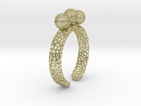 voronoi fidget ring. Size 7 18.92 mm with three sp in 18k Gold Plated Brass