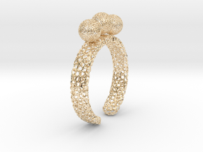 Voronoi fidget ring. Size 5 17.58 mm with three sp in 14K Yellow Gold