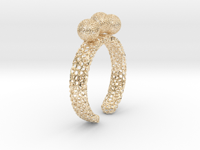 Voronoi fidget ring. Size 5 17.58 mm with three sp in 14k Gold Plated Brass