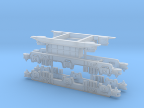 LMS 10000 Bogie Sides and Underframe Detail 1/148 in Smooth Fine Detail Plastic