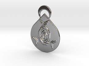 Apex Legends Wraith Pendant in Polished Silver