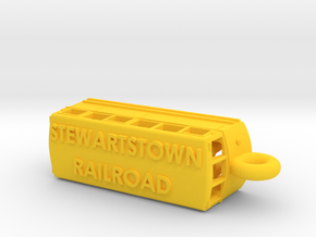 Stewartstown Railroad Railbus flashdrive case in Yellow Processed Versatile Plastic