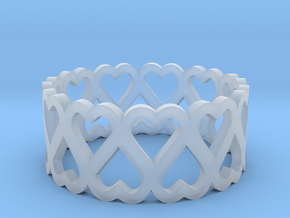 heart symmetric ring size 4.5 in Smoothest Fine Detail Plastic