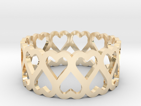 heart symmetric ring size 5 in 14K Yellow Gold