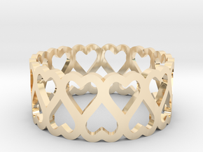 heart symmetric ring size 5 in 14k Gold Plated Brass