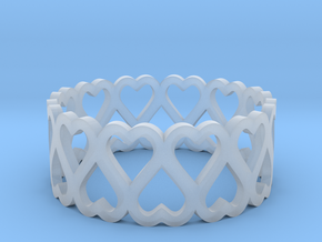 heart symmetric ring size 6.5 in Smoothest Fine Detail Plastic