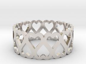 heart symmetric ring size 6.5 in Platinum