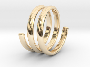 spring ring size 5.5 in 14K Yellow Gold