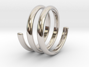 spring ring size 6 in Rhodium Plated Brass