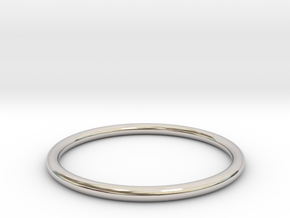 wire ring size 5 in Rhodium Plated Brass