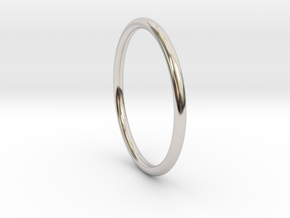 wire ring size 8 in Rhodium Plated Brass
