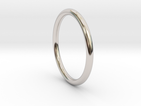 wire ring size 9.5 in Rhodium Plated Brass