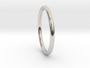 wire ring size 10 in Rhodium Plated Brass