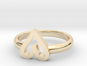 ring hearth size 5 in 14k Gold Plated Brass