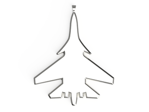 Jet Pendant in Polished Silver