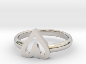 ring hearth size 5.5 in Rhodium Plated Brass