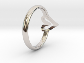 ring hearth size 6 in Rhodium Plated Brass