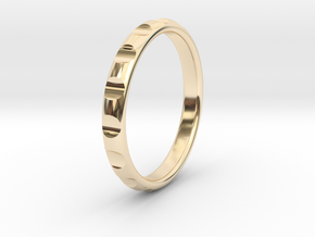 ring gear size 5.5 in 14K Yellow Gold