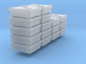 HO Scale chick crates stacked x 16 in Smoothest Fine Detail Plastic