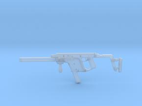 1:12 Miniature Kriss Vector Machine Gun  in Smooth Fine Detail Plastic: 1:12