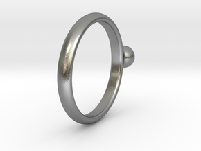 ring pearl size 6 in Natural Silver