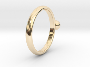 ring pearl size 6 in 14k Gold Plated Brass