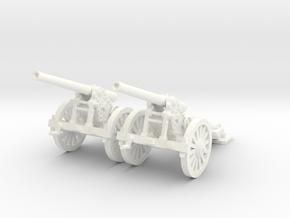1/87 De Bange cannon (low detail) in White Processed Versatile Plastic