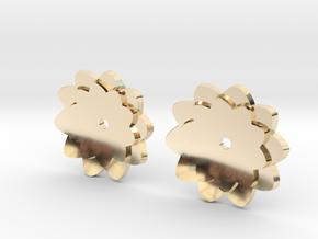 Flower earring enhancer in 14k Gold Plated Brass