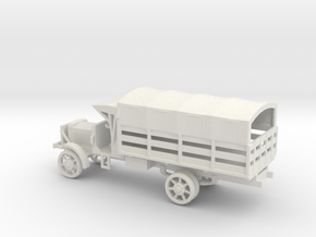 1/87 Scale Liberty Truck Cargo with Cover in White Natural Versatile Plastic
