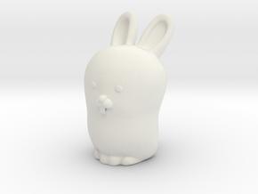 Glenda the Bunny in White Natural Versatile Plastic