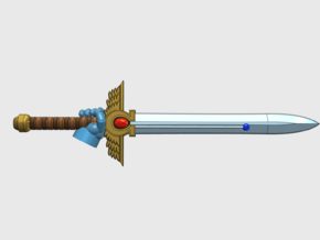 10x Energy Sword: McKrag (Right handed) in Smooth Fine Detail Plastic