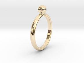 ring pearl size 6.5 in 14k Gold Plated Brass