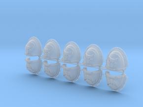 Moon Wolves Mk3 shoulder pads #1 in Smooth Fine Detail Plastic