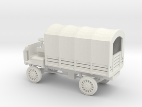1/87 Scale FWD B 3-Ton 1917 US Army Truck with Cov in White Natural Versatile Plastic