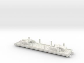 NWR Flat bed car Model Series Era Full sides in White Natural Versatile Plastic