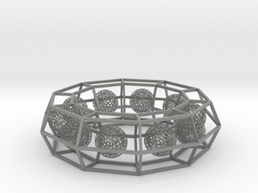 cage ring frame with voronoi ball size 10 (1) in Gray PA12