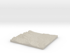 Model of Cooper Draw in Natural Sandstone