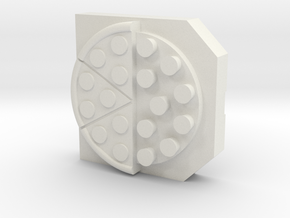 Pizza box in White Natural Versatile Plastic