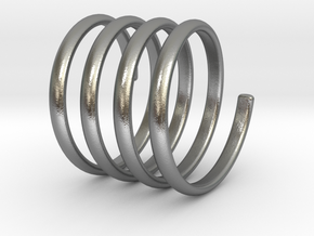 spring coil ring size 5 in Natural Silver