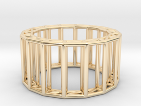 wireframe  in 14k Gold Plated Brass