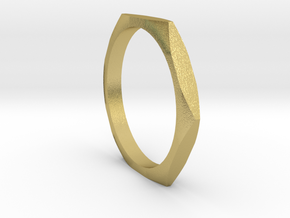 nut ring size 5.5 in Natural Brass