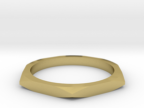 nut ring size 6.5 in Natural Brass