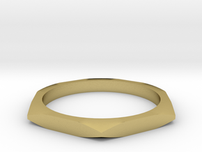 nut ring size 7 in Natural Brass