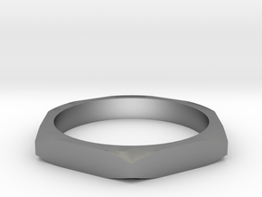 nut ring size 8.5 in Natural Silver