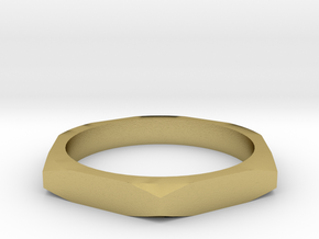 nut ring size 8.5 in Natural Brass