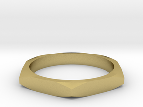 nut ring size 9.5 in Natural Brass