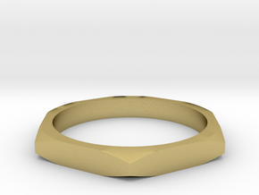 nut ring size 10.5 in Natural Brass