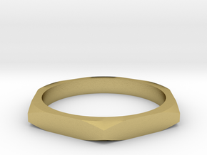 nut ring size 11 in Natural Brass