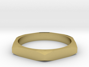 nut ring size 15 in Natural Brass