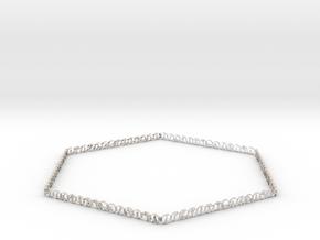 Hexagonal yoga bracelet in Rhodium Plated Brass